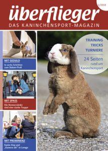 Titelseite Überflieger Ausgabe 2018 - Kaninchen macht Männchen